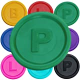 SchwabMarken 100 Marcadores Fichas con -B-, P- o -L- en 14 Colores Verde P
