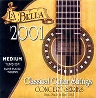 LA BELLA 2001MT Jeu de cordes de Guitare Classique Tirant moyen