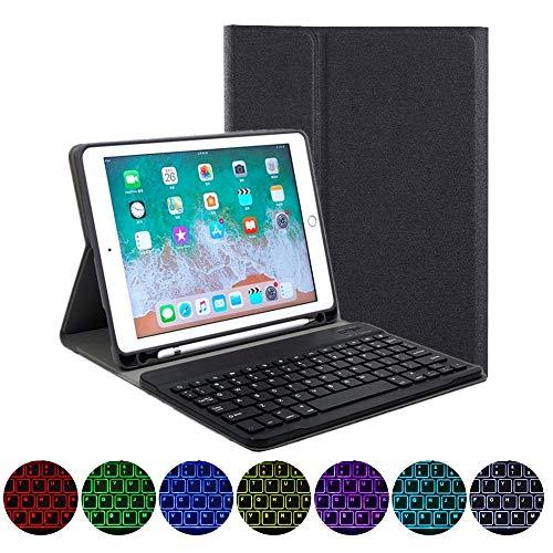バックライト付き iPad アイパッド 9.7インチ 2018 新型 iPad6 iPad5 iPad Air 2 iPadPro9.7 キーボード ケース ペンホルダー内蔵 アップルペンシル 収納 アイパッド 6 5 エア 2 プロ9.7 分離式 スマー