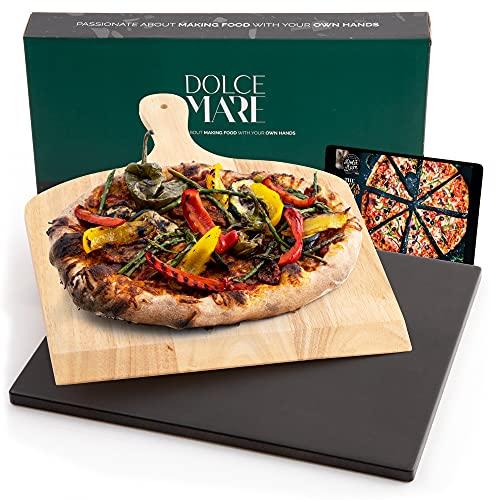 DOLCE MARE Pizzastein Schwarz - Pizza...