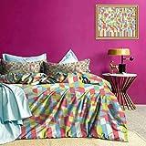 Adorise Duvet Cover Set Psychedelic Art gradiente del lecho de Disfrutar de un sueño reparador 's - Tamaño Completo
