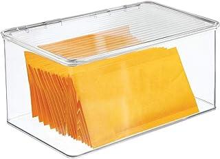 mDesign Boite de Rangement pour Le Bureau – Rangement de Bureau en Plastique sans BPA – Boite avec Couvercle pour stylos, ...