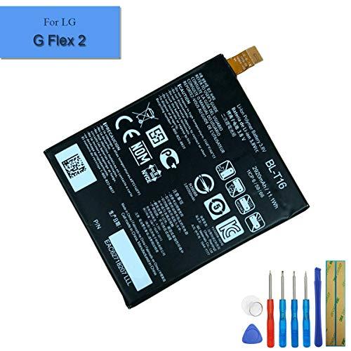 E-yiiviil Batería de reemplazo de iones de litio BL-T16 Compatible para LG G Flex 2 H950 h955 a ls996 h959 2920 mAh con herramientas de instalación