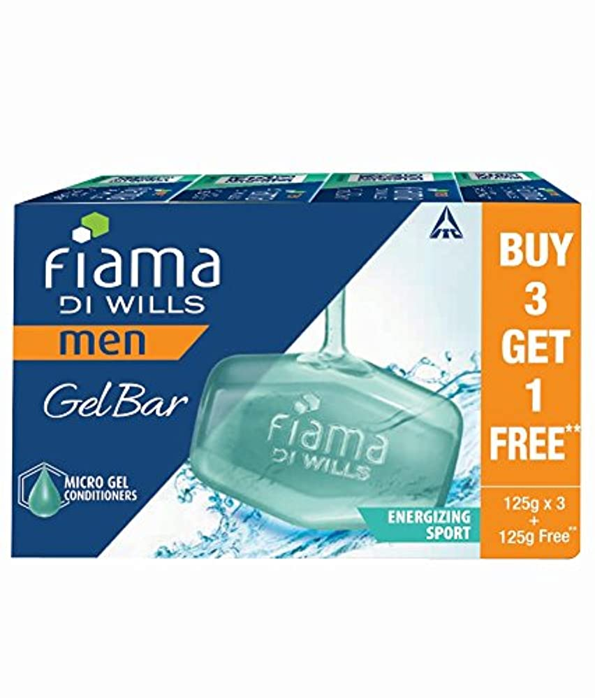 弱まる怪物練るFiama Di Wills Men Energizing Sport Gel Bar, 125g (Buy 3 Get 1 Free)