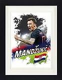 1art1 Fußball - Mario Mandzukic Kroatien Gerahmtes Bild
