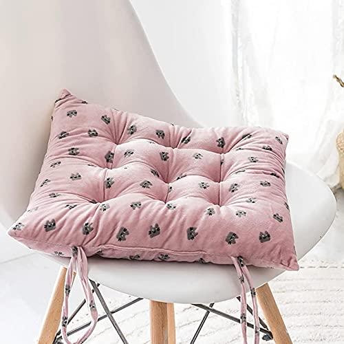 Cojín de silla Simplicity con lazos, almohadillas de asiento para sillas de comedor con cojines de asiento gruesos de algodón almohadillas de asiento de silla acolchadas cuadradas cómodas Armc