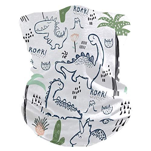 ALaze Pasamontañas de protección Infantil con patrón de Dinosaurio Pasamontañas con filtros de Carbono de Seguridad, Polaina con Cuello para múltiples Sombreros