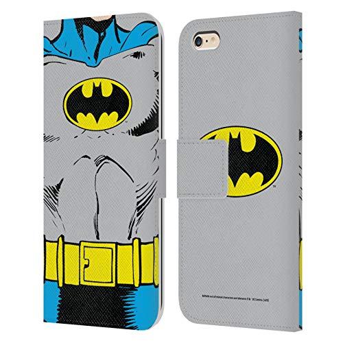Head Case Designs Oficial Batman DC Comics Disfraz clsico Logotipos Carcasa de Cuero Tipo Libro Compatible con Apple iPhone 6 Plus/iPhone 6s Plus