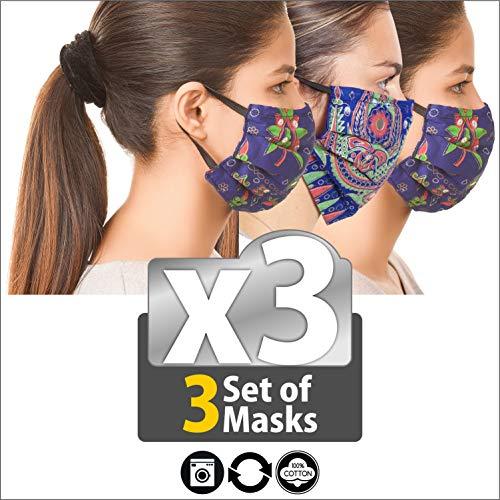 Juego de mascarillas de protección reutilizables, lavables, para la cara y la boca, filtro de la boca, puente nasal, antihumo, transpirable, contaminación para motocicleta o deporte