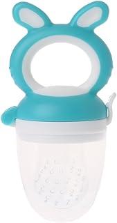 Baby Feeder dentición fruta verduras Chupete comer Nippel silicona niños Aspiradora, azul, medium