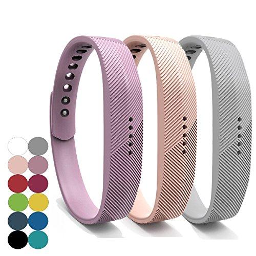 yefod Fitbit Flex Juego de 3 correas de silicona de