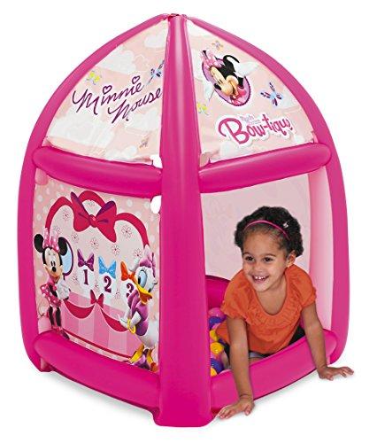 Minnie Mouse Pretty Bow Ball Pit, 1 Inflatable & 20 Sof-Flex Balls, Pink, 37'W x 37'D x 34'H