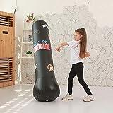 Explea Aufblasbare Boxing Fitness Sandsack Target Stand Boxsäcke Sport Stressabbau Boxing Target Bag Freistehende Box Boxsack, Kombination von Fitness und Unterhaltung Reliable