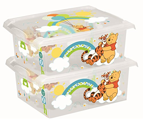 Disney Winnie l'Ourson Lot de 2 boîte de rangement 10 L