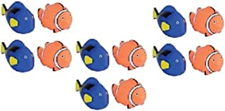Novelty Treasures Awesome Coral Reef Blue Tang Fish and Tropical Clownfish Squirt Bathtub and Pool Toys Set of 12