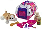Vet Play Set, Pet Puppy Carrier, Soft Plush Dog And Grooming Toys by A TO Z