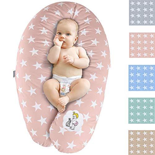 Coussin d'Allaitement et de Grossesse | Maternité Bebe Oreiller XXL 190 x 30| Remplissage EPS microbilles Hypoallergénique | Taie 100% Coton Amovible et Lavable