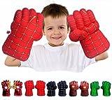FAIRZOO Spider Superheros Gauntlet Smash Hands Fists Big Soft Plush Kid Boxing Training Gloves Pair Halloween Costume