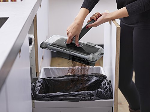 Black+Decker PSA215B-QW 7.2V, 1.5Ah Lithium Akku-Kehrbesen, Laufzeit 60 min, für kurzflorigen Teppiche und Hartböden, kabellos, beutelos, aufladbar, schwarz, PSA215B, Acrylic, 300 milliliters, Grau - 12