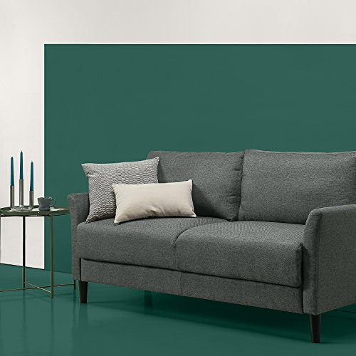 Zinus OLB-SF-B7031DG Classic Upholstered 71In/Living Room Couch, Grey with Hint of Green