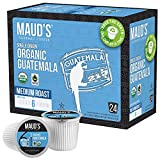 Maud's Organic Guatemalan Coffee (Medium Dark Roast Coffee), 24ct. Solar Energy Produced Recyclable Single Serve Fair Trade Single Origin Organic Coffee Pods - 100% Arabica Coffee, KCup Compatible