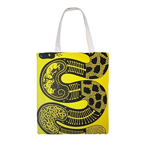 Cotton Canvas Tote Bag Snake's Belly Shoulder Grocery Shopping Bags Cloth Shopping Bag
