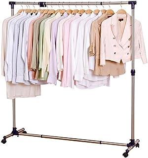 JIAYING Séchoirs à linge Les vêtements de séchage racks, peu encombrant Blanchisserie Rack, vêtements en métal Etendoir, p...
