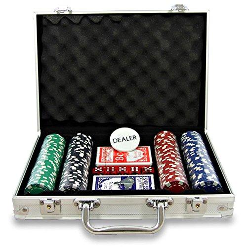 Carte Oob-Poker 2mazzi+200 Fiches+5dadi Valigetta Alluminio