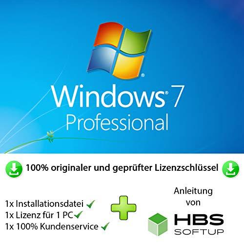 MS Windows 7 Professional 32 bit & 64 bit Vollversion Multilingual - Original Lizenzschlüssel per Post und E-Mail + Anleitung von HBS SOFTUP® - Versand max. 60Min