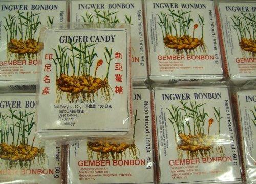 25er Pack Ingwer Bonbons [25x 56g] Ingwer Bonbon SINA Ginger Candy
