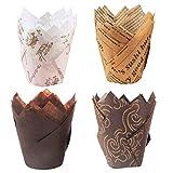 feixia Moldes para Magdalenas, 200 Piezas Tazas para Hornear Tulipanes Tazas para Muffins Forros para Magdalenas Estuches para Muffins (200 Piezas)