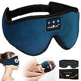 MUSICOZY Sleep Headphones 3D Bluetooth Headband Wireless Sleep Mask, Sleeping Headphones Music Eye Mask Earbuds for Side Sleepers, Air Travel, Built-in Ultra Soft Thin Speakers Microphones