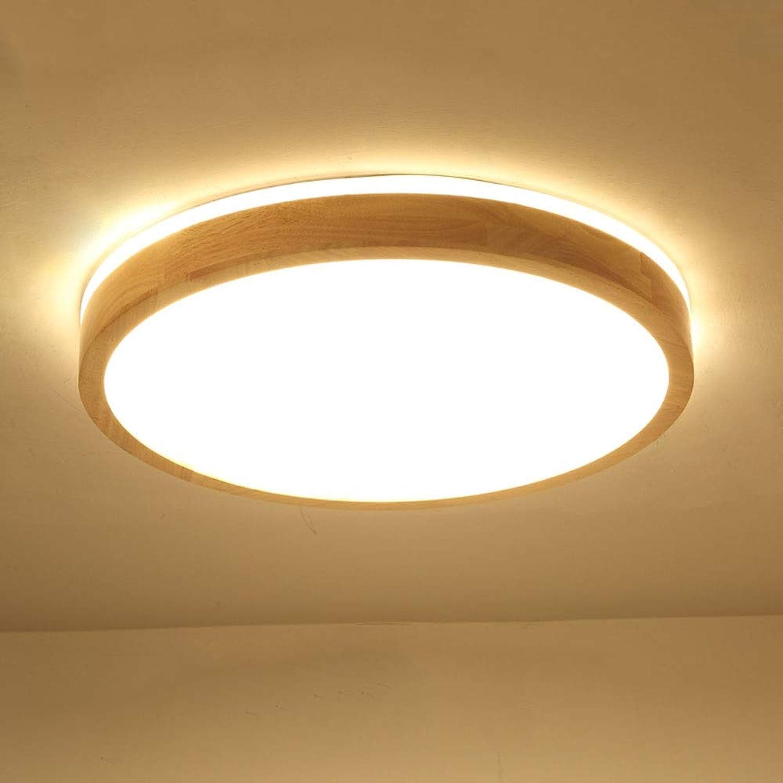 SJUN LED Deckenleuchte, Runde Deckenlampe Aus Holz Holz Holz ...