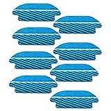Almohadilla De Aspiradora 8PCS Papas DE MOP reemplazables Compatible con CECOTEC Conga 3290 3490 3690 Piezas de Repuesto de aspiradora Aspiradora Tela trapeador (Color : Blue)