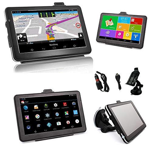 Android 7 Zoll LKW(Truck), PKW, Bus, WOHNMOBIL und Camper Navigationsgerät mit Android. Radarwarner, Kostenlos Map Update, Gefahrgut, WiFi, Bluetooth,