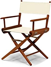 Telescope Casual World Famous Dining Height Director Chair, Natural with Walnut Frame