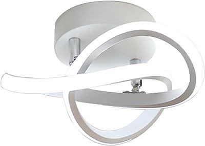 YanFeng Décoration déclairage Moderne, plafonnier LED à intensité Variable, Lampe à Panneau Acrylique Blanche avec 3 Couleurs pour Chambre à Coucher, Cuisine