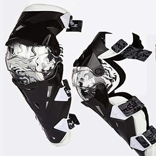 DHYSAUY Motorrad Knieschützer, 2 Motorrad Knieschützer, Beruf Ritter Rennmotorrad, Motorrad-Geländewagen, Fallschutzausrüstung, Motorradkniepolster, Leggins Ausrüstung (Color : C, Size : One Size)