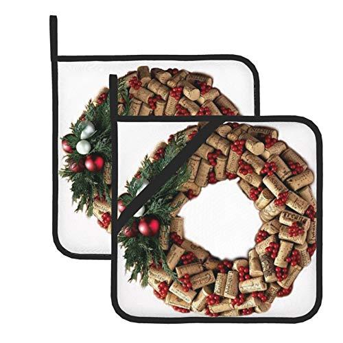 wellay Soporte para botellas de vino y sacacorchos resistente al calor para cocinar, asar y hornear, juego de 7,1 x 20,3 cm