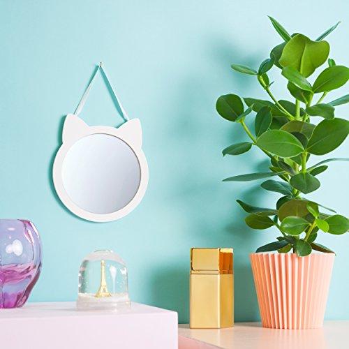 Black Jaguar Wandspiegel Katze | Kinder Spiegel | Spiegel Kinderzimmer | Geschenke für Mädchen | Kinderspiegel | Spiegel Weiss | Badezimmer-Spiegel