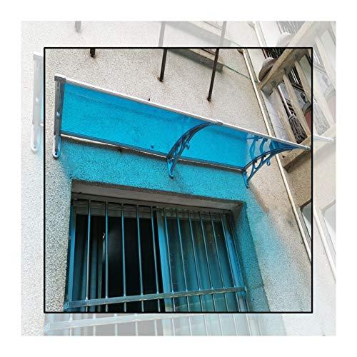 GuoWei Marquesina para Puertas Ventanas, Jardín Porche Refugio Sol Translúcido, Cubierta Extensible De Lluvia Y Nieve, Tamaño Personalizado (Color : Blue, Size : 60x160cm)