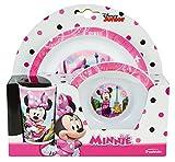 FUN HOUSE 005471 Disney Minnie Ensemble Repas Contenant 1 Assiette, 1 Bol et 1 Verre...
