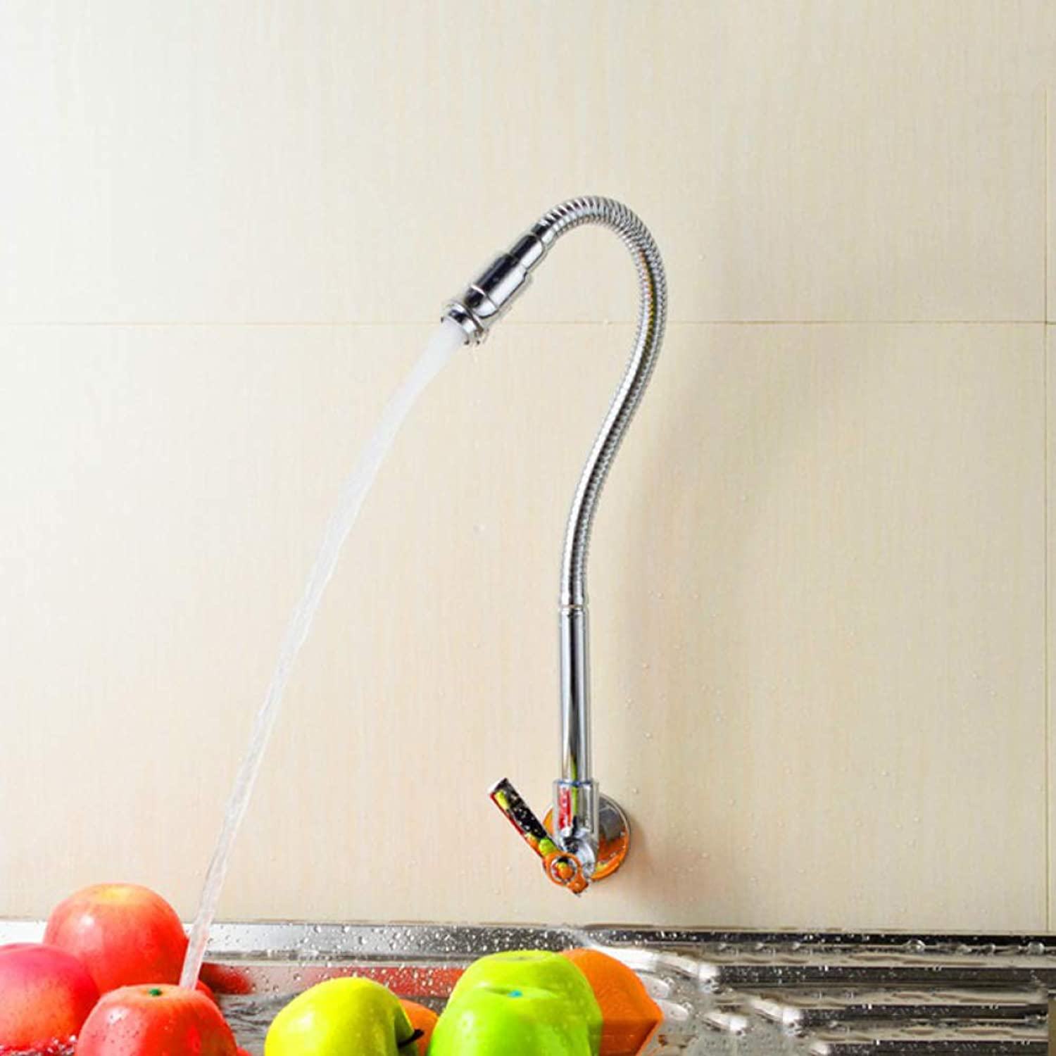 GZF Faucet wall single cold kitchen faucet 360 degree redation kitchen faucet single cold wall faucet