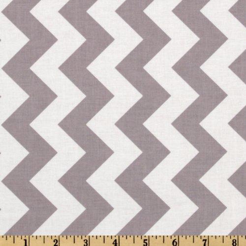 Riley Blake Designs Riley Blake Chevron Medium Fabric by The Yard, Gray