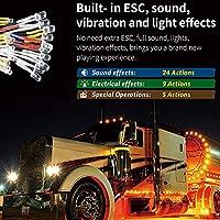 おもちゃのアクセサリー。 Gtpower Lighting Voice Vibration System Pro App Control For Rc Auto Parts Container Truck Control Box Board Esc Mode