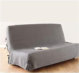 Housse de canapé clic-clac - 100 % coton - Coloris GRIS Clair