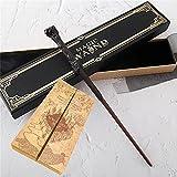 WOZWZ Serie de varitas de Harry Potter - Varita de Harry Potter, núcleo de Metal Noble Collection Varita de Juguete Núcleo de Metal con Caja de Regalo Mapa Aviso de admisión y boletos como Regalos