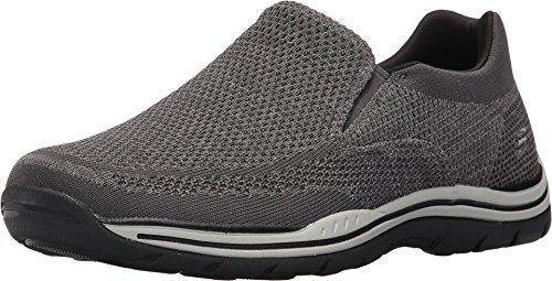 Skechers mens Expected Gomel Slip On Loafer, Grey, 9 US