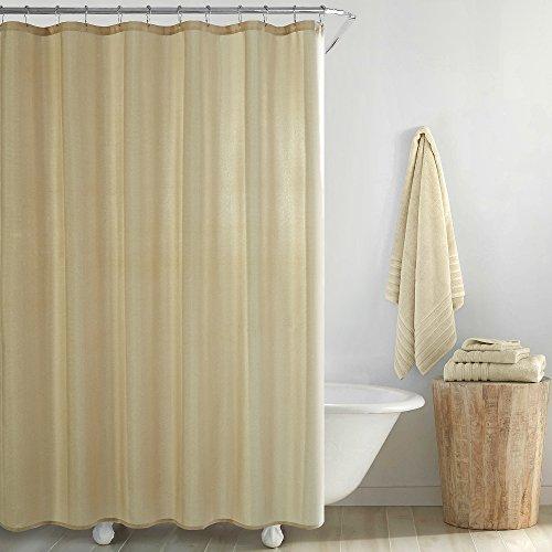 Style House Metallic Basketweave Duschvorhang, Polyester, Gold, 72x72