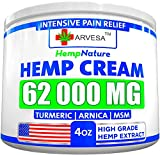 ✅NATURAL PAIN RELIEF - Hemp cream extract has been found to soothe pain from swollen and tender joints. Relieves Neck, Hip, Shoulder, Muscle, Joint, Elbow, Back, Nerve Pain Relief. ✅SUPER VALUE - Our hemp creams come in 4oz jars, where most only offe...
